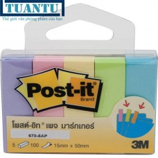 Note Post-it phân trang 5 màu (15mmx50mm)